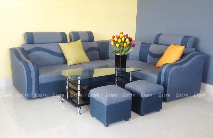 Gợi ý chọn cho phòng khách bộ sofa nỉ giá rẻ chất lượng