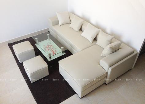 Sofa nỉ góc giá rẻ E04