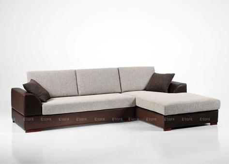 Sofa góc Da + Nỉ E10