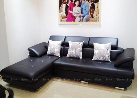 Sofa da góc hiện đại E28