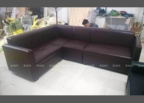 Sofa da góc E13