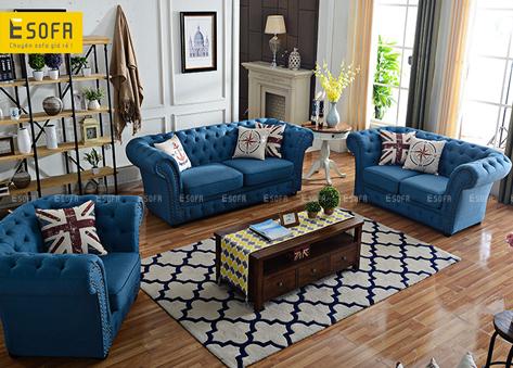 Sofa văng tân cổ điển E265