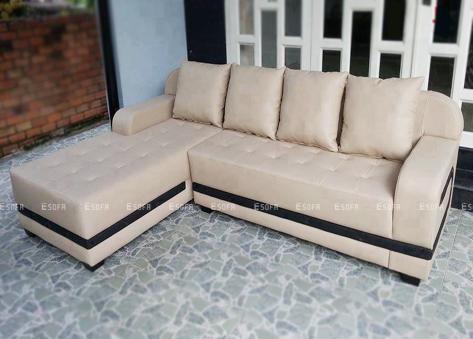 Sofa da góc E35