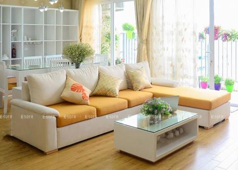 Sofa nỉ E37 góc chữ L đẹp