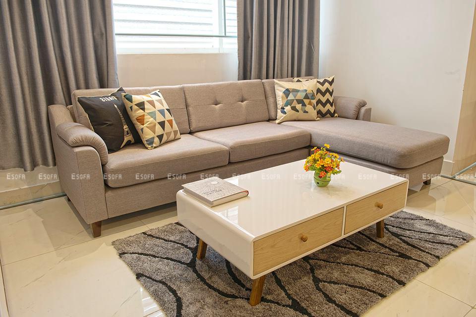Sofa góc nỉ E59