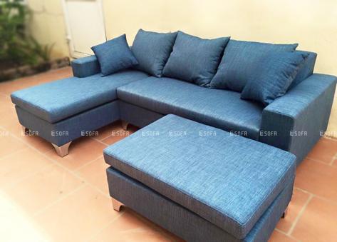 Sofa góc nỉ E38