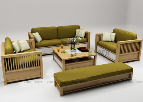 Bộ sofa gỗ hiện đại E177