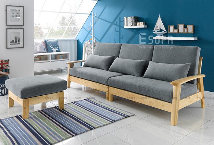 Đổi mới phòng khách thêm ấn tượng với sofa gỗ