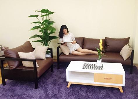 Sofa gỗ hiện đại E161