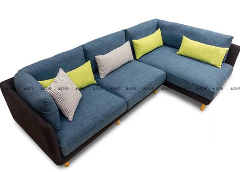 Sofa góc nỉ Indo E62