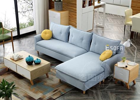 Sofa góc nỉ hiện đại E64
