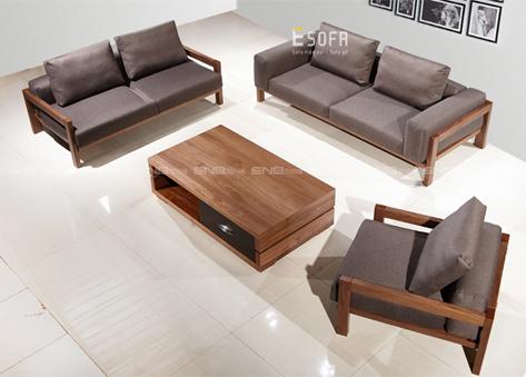 Bộ sofa văng gỗ đệm E186
