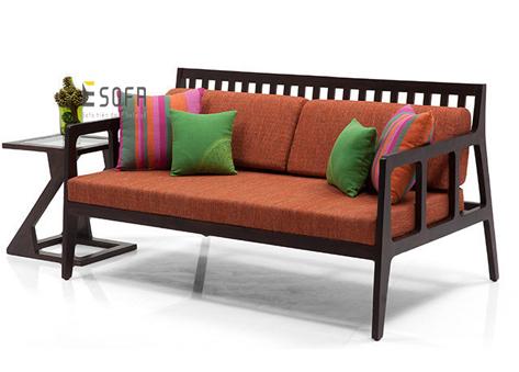 Sofa gỗ đệm nỉ E184