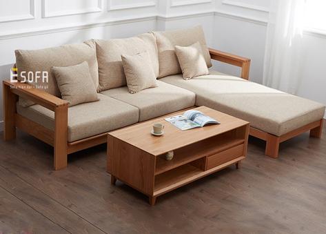 Sofa gỗ góc đệm E214