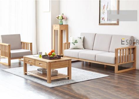 Sofa văng gỗ đệm nỉ E185