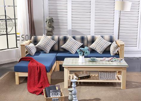 Sofa gỗ đệm E211
