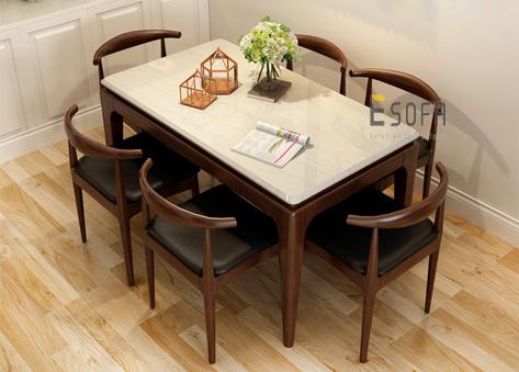 Bộ bàn ăn 6 ghế hiện đại ED04