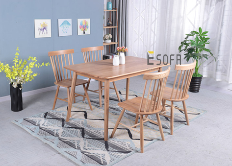 Bộ bàn ăn gỗ nhỏ 4 ghế ED07