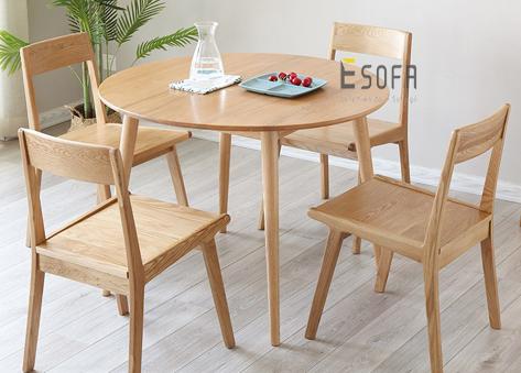 Bộ bàn ăn tròn 4 ghế ED10