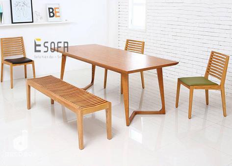 Bộ bàn ghế ăn gỗ ED05
