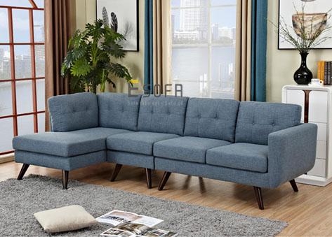 Sofa góc nỉ hiện đại E73