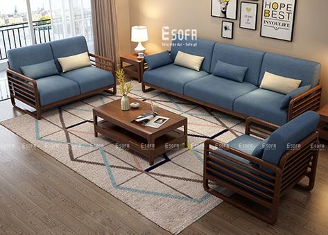 Bộ sofa gỗ hiện đại mang sức sống mới cho phòng khách