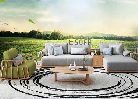 Sofa gỗ góc chữ L E243