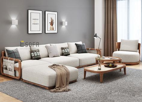 Sofa văng gỗ đệm hiện đại E248