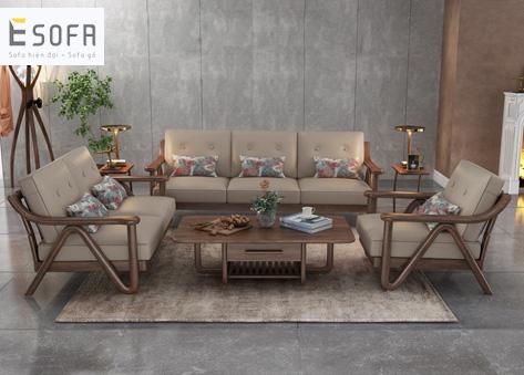 Sofa văng gỗ hiện đại E244