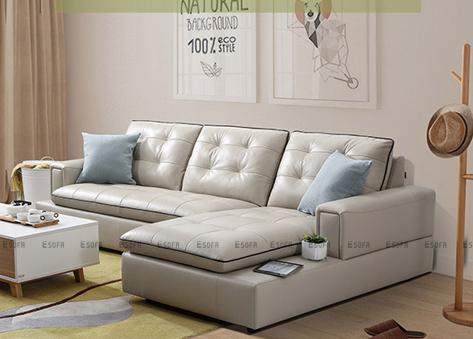 Sofa da góc E454