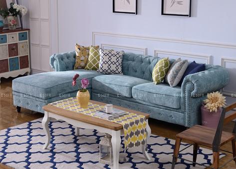 Sofa nỉ tân cổ điển E464