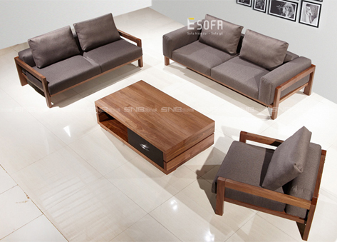 Sofa văng gỗ đệm E186