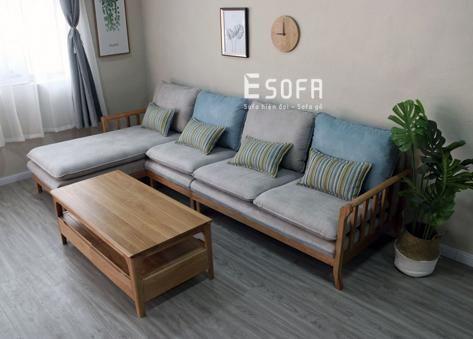 Sofa gỗ góc hiện đại E254