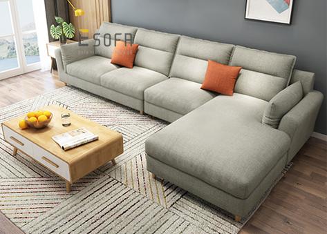 Sofa góc nỉ E117